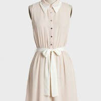 kiley sash belt dress in blush at ShopRuche.com