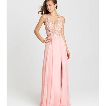 Madison James 16-327 Blush Pink Sexy Strapless Chiffon Long Dress 2016 Prom Dresses