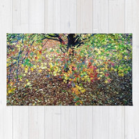 Fall Foliage, Leaves - Decorative Throw Rug, 3 Sizes Available - Kitchen, New Home or Apartment, Bathroom, Guest Room - Made To Order-COA#02