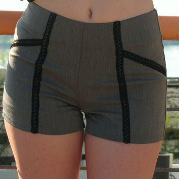 Gotham Gal Charcoal Fitted Shorts