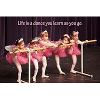 inspirational poster LITTLE GIRL BALLERINAS 24X36 quote about life learning