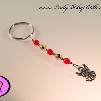 Christmas Key Chain - Christmas Keyring - Angel Keyring