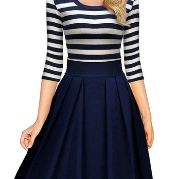 Whole Heart Navy Blue Dress