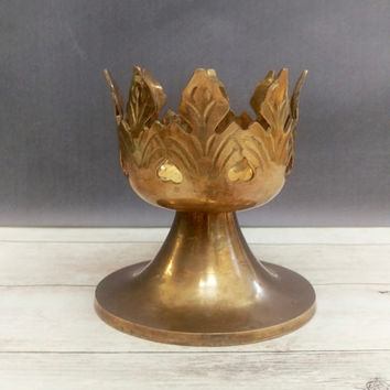 Pedestal Candle Holder/ Brass Pedestal Candle Holder/ Plant Stand/ Air Plant Holder/ Brass Plant Stand/ Brass Pedestal/ Brass Candlesticks