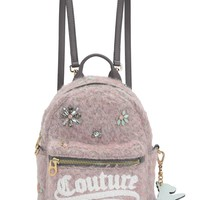 Soft Quartz Wool Convertible Mini Backpack by Juicy Couture, No