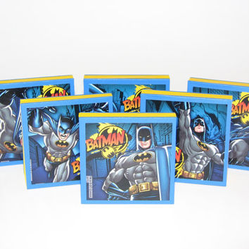Batman Note Pads Set of 6 - Excellent Party Favors - Great Stocking Stuffers