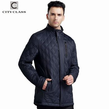 Trendy CITY CLASS NEW Mens Autumn Jackets And Coats Business Leisure Slim Fit Stand Collar Cotton Clothing Plus Size Quilted 14019 AT_94_13