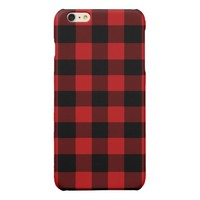 Red Buffalo Plaid Glossy iPhone 6 Plus Case