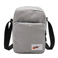 NIKE tide brand female sports shoulder bag storage bag Messenger bag grey