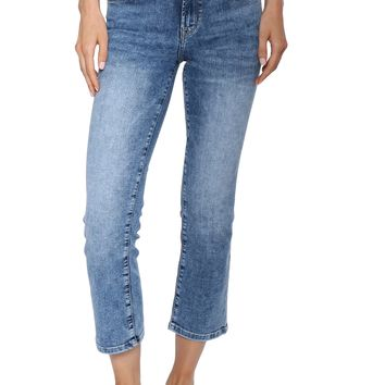 Flying Monkey Mid Rise Crop Straight Jeans