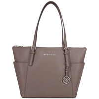Michael Kors Jet Set Top-Zip Saffiano Leather Medium Tote - Cinder