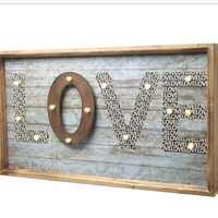 Love Sign, Love Frame, Home Decor, wedding Decor, Wooden Frame