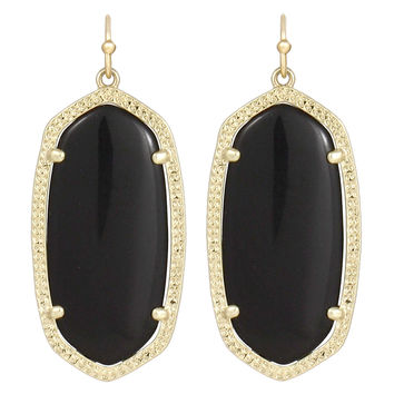 Kendra Scott Elle Drop Earrings Black