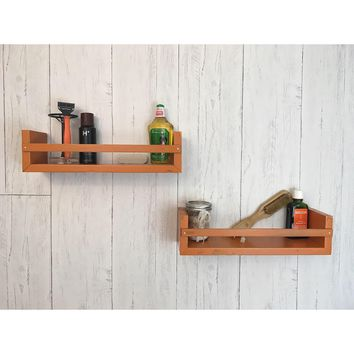 Solid Wood Rustic Shelf Set/Spice Racks - Painted Finish