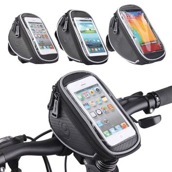 ROSWHEEL Bicycle Smart Phone 4.2 5.0 5.5 inch Bag Handlebar MTB Road Bike Cycling Front Frame Basket Storage Bycicle Bolsa