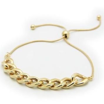 Gold Plated Sterling Silver Rounded Cuban Link