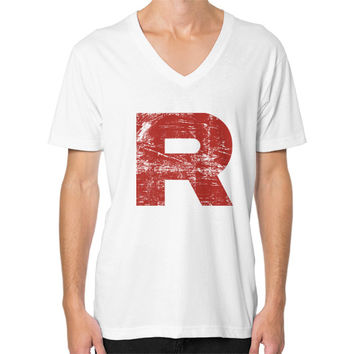 Team Rocket Grunge V-Neck (on man)
