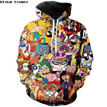 PLstar Cosmos Drop shipping 2018 New Fashion Mens/Womens Hoodie Cartoon Totally 90's 3D Print Casual Hooded Sweatshirt