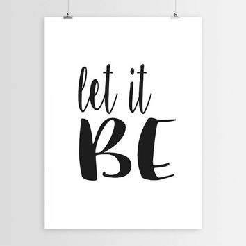 "PRINTABLE""Let it be""Inspirational Print Typography Poster Black And White Wall Decor Word Art Wall Art Instant Download Typography Print Art"