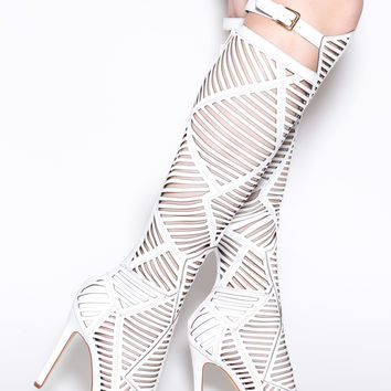 Shape Play Slit Cut-Out Boots