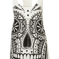 **Skull Racerback by Illustrated People - Brands at Topshop  - Jersey Tops