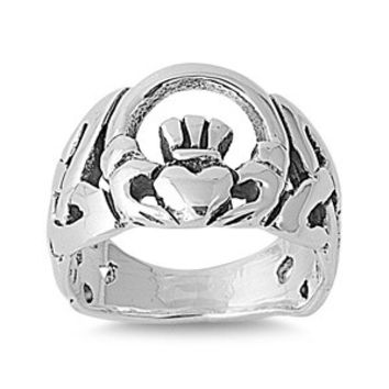 925 Sterling Silver Claddagh Blessing Ring