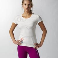 Reebok CrossFit Burnout Tee - White | Reebok US