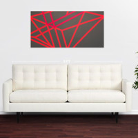 Modern Abstract Geometric Painting from Matrix Print Shop