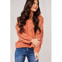 Fashionably On Time Sweater (Rust)