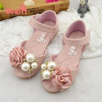 Genuine leather Children girls shoes Summer Girls Sandals Leather Princess Shoes for Kids sandals Girls leather Shoes 330-48