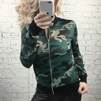 Sports Hot Deal On Sale Jacket Hot Sale Women's Fashion Camouflage Baseball [37748604954]