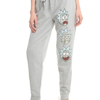 Rick And Morty Face Print Rick Sanchez Girls Jogger Pants