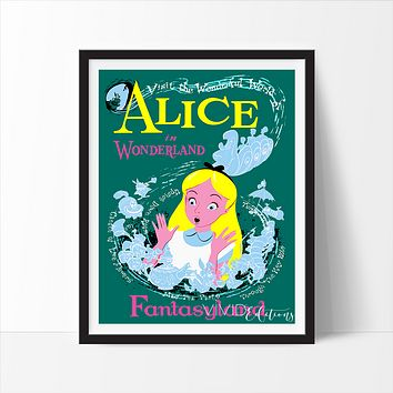 Alice in Wonderland, Disneyland Poster