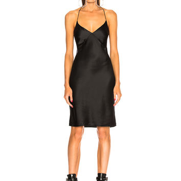 fleur du mal for FWRD Midi Slip with Low Back in Black | FWRD