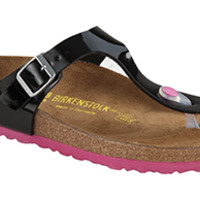 Gizeh Black Patent Birko-Flor Sandals | Birkenstock USA Official Site