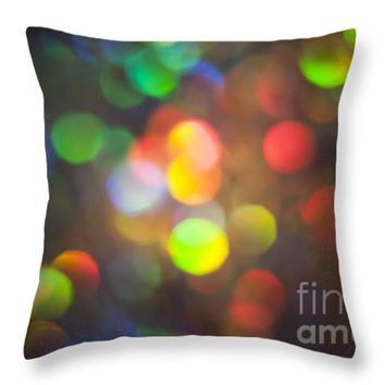 "Spectrum Throw Pillow for Sale by Jan Bickerton - 14"" x 14"""