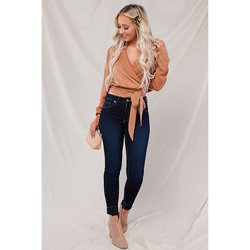 Falling For This Wrap Top (Copper)