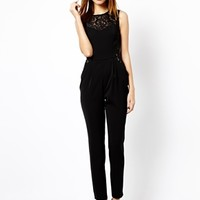 Warehouse Lace Side Jumpsuit