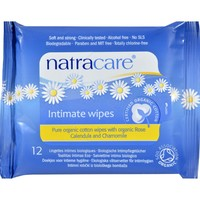 Natracare Organic Cotton Intimate Wipes - 12 Wipes