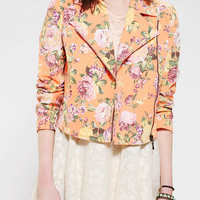 Pins And Needles Neon Tropical Moto Jacket