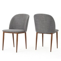 Anastasia Dining Chair - Light Grey (Set of 2) - Christopher Knight Home