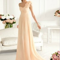Buy Graceful Sheath/Column One-shoulder Sweep Train Prom Dress under 200-SinoAnt.com