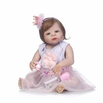 Silicone Baby - Reborn Full Body Doll - Toddler Girl