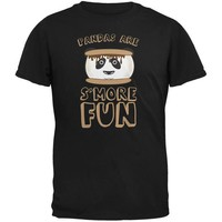 DCCKJY1 Pandas Are S'More Fun Black Youth T-Shirt