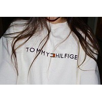 Tommy Hilfiger Casual Long Sleeve Pullover Sweatshirt Top Sweater