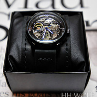 Men's Automatic Skeleton Watch -  SALE  - Worldwide COMPLIMENTARY Shipping - Steampunk Monaco Leather