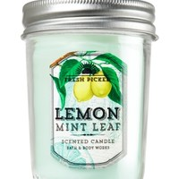 Mason Jar Candle Lemon Mint Leaf