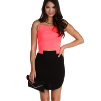 Neon Pink All the Right Moves Crop Top