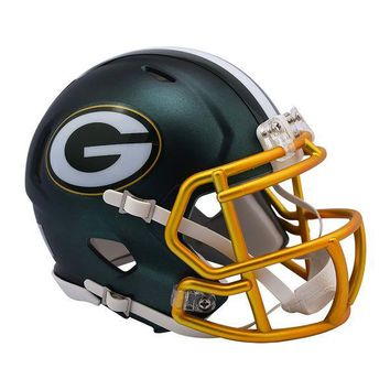 Riddell Green Bay Packers Blaze Revolution Speed Mini Football Helmet