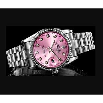 Rolex Hot Sale Women Men Diamond Movement Watch Business Wristwatch